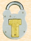 440 Old English 4 Lever Padlock 50mm