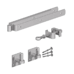 "Adjustable Field Gate Hinge Set 24""- ON PLATES"
