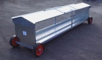 Double Sided Sheep Hayrack on wheels 10ft
