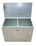 Feed Bin Galvanised Double Compartment 120cm