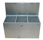 Feed Bin Galvanised Triple Compartment 160cm