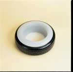 Plastic Tyre Feed Bowl - Black fits tyre