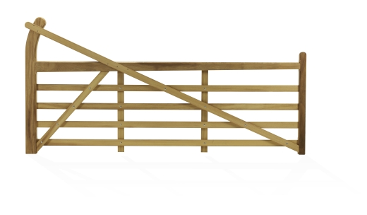 Timber Entrance Gate 10ft Rh 3522 Farm Country Supplies