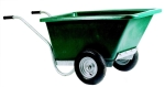 Twin Wheeled Plastic Barrow - Green 255li